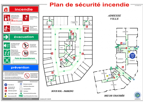 Photo Plan d'Evacuation ou Intervention